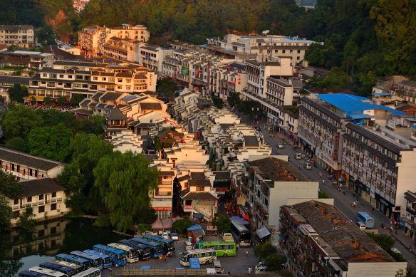 Yangshuo dall'alto
